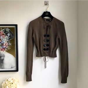 See By Chloe 100% cotton snap button cardigan